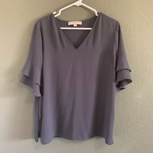 Loft ruffle sleeve blouse